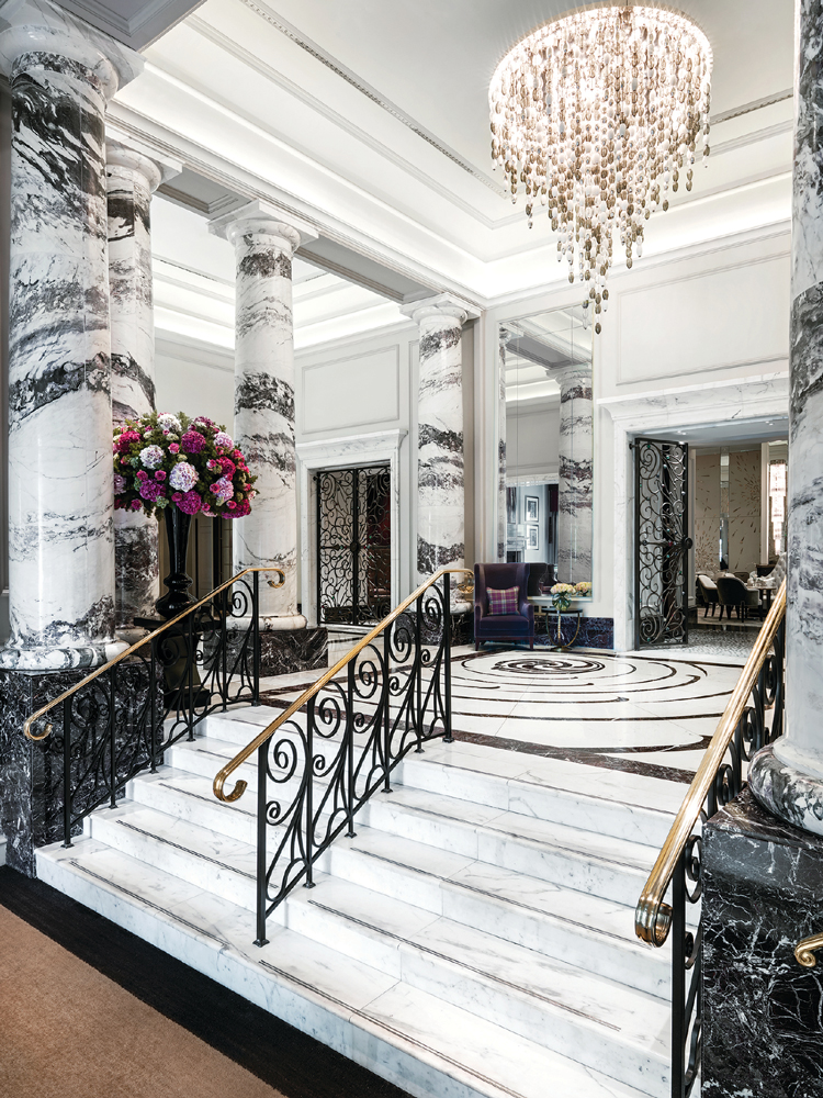 Lobby staircase preview - A very Royal Season at The Langham, London