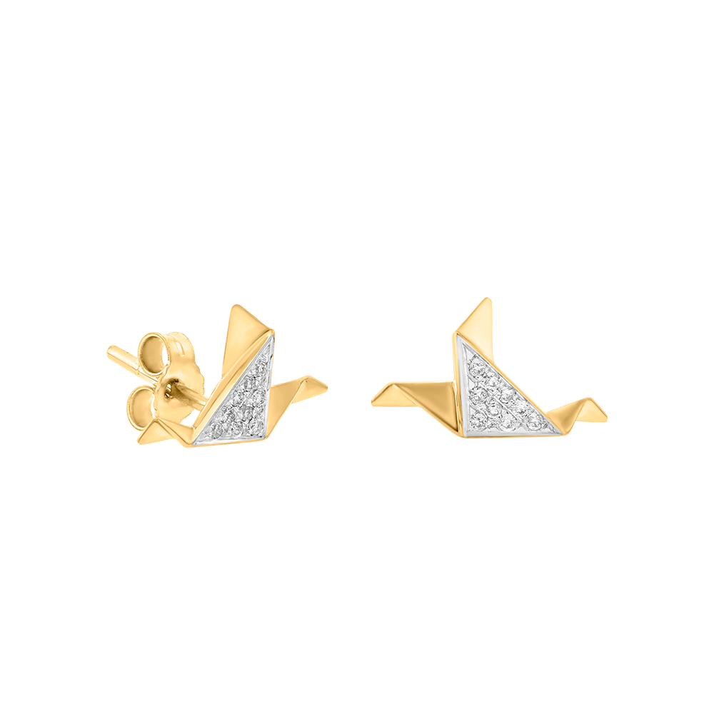 Geogami - Doves - Stud Earring Diamond